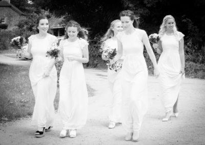 Bridesmaids Walking - Wedding by Seven Springs Studios