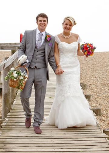 Beach wedding photography in Dorset by Seven Springs Studios