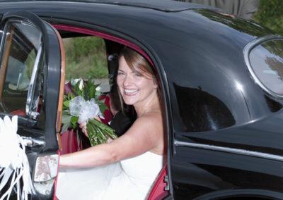 Bride & Car - wedding photography in Dorset by Seven Springs Studios