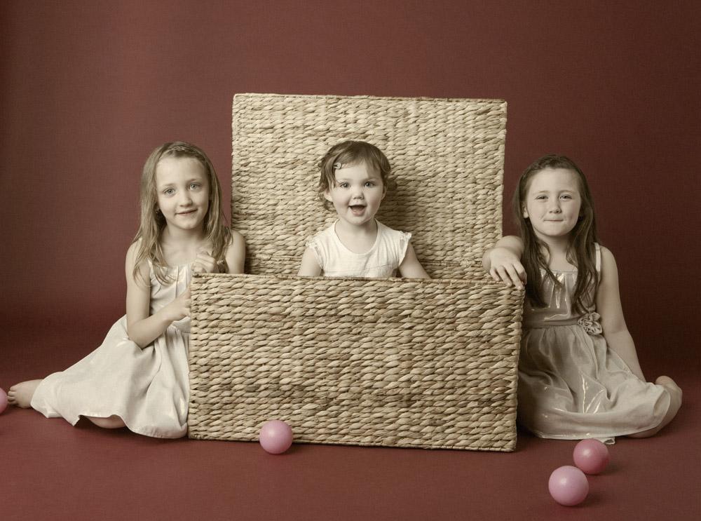 Family portrait photography Dorchester Dorset girls basket