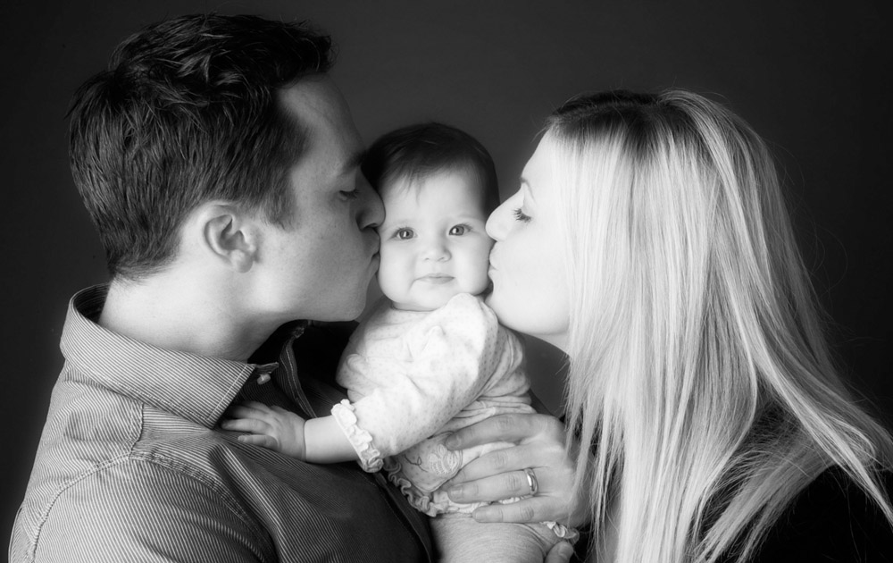 Family portrait photography Dorchester Dorset kisses 2