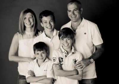 Family portrait photography Dorchester Dorset white tops