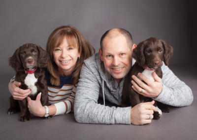 Pet portrait photography Dorset two spaniels mum and dad