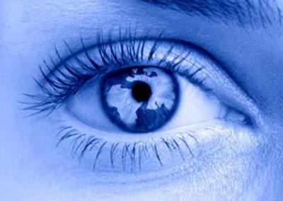 Abstract Eye Closeup