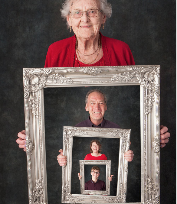 4 Generations family portrait from 14 to 93